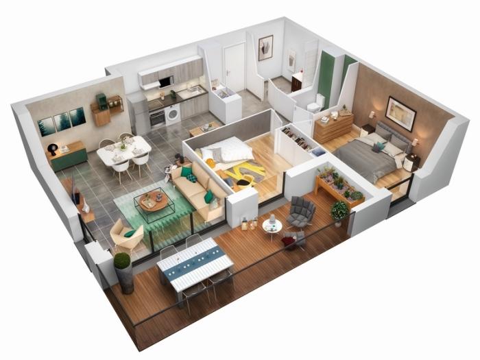 Appartements neufs Saint-Simon référence 5006 : aperçu n°2