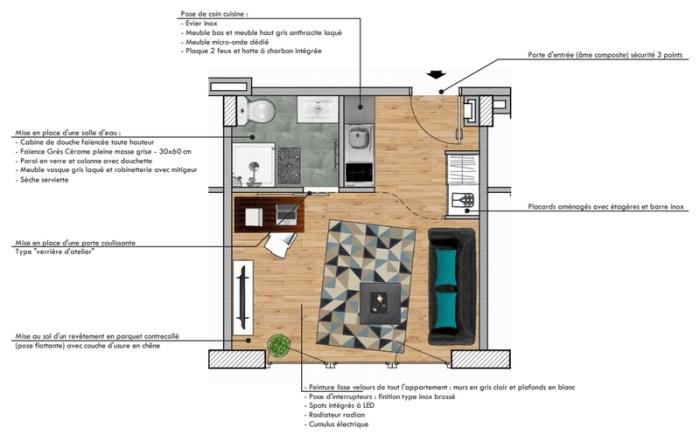 Appartements neufs Compans Caffarelli référence 4822 : aperçu n°13