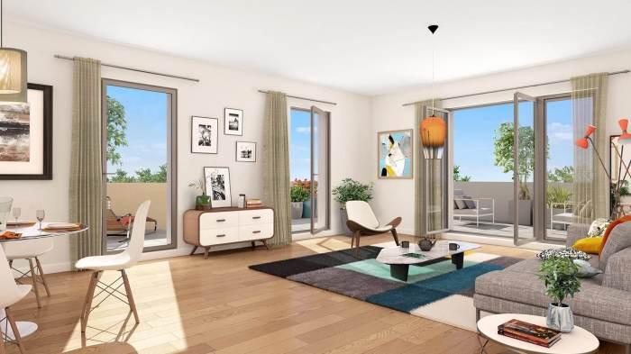 Appartements neufs Patte d'Oie référence 4943 : aperçu n°1