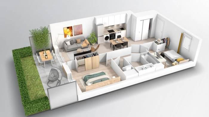Appartements neufs Croix-Daurade référence 4060 : aperçu n°3