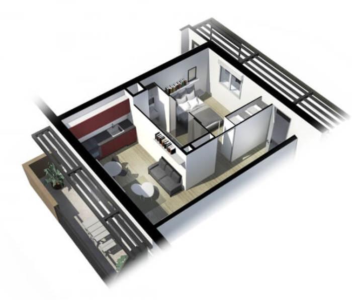 Appartements neufs Côte Pavée référence 4139 : aperçu n°3