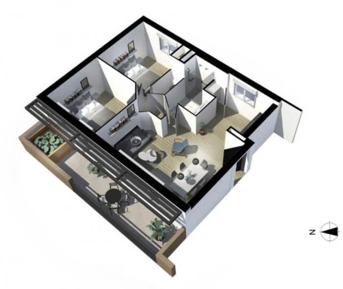 Appartements neufs Côte Pavée référence 4139 : aperçu n°4