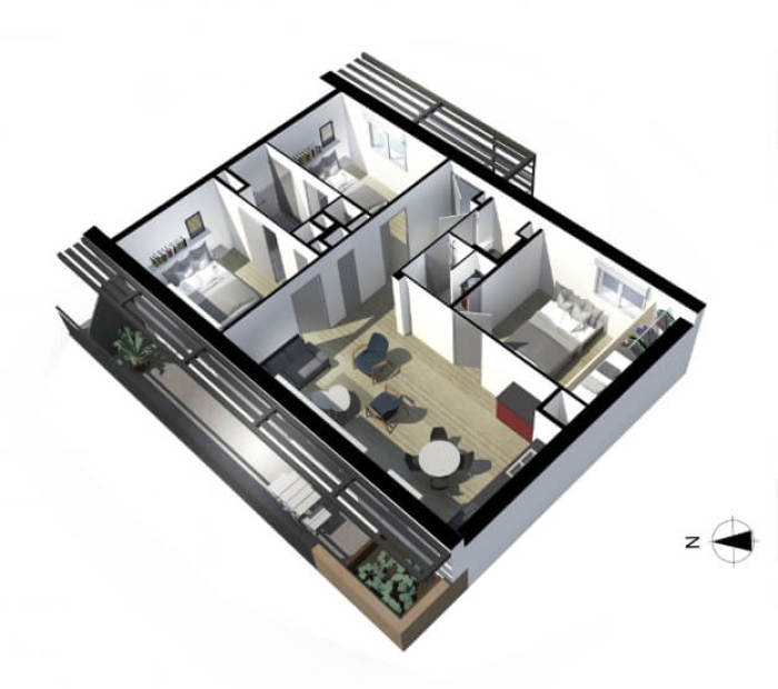 Appartements neufs Côte Pavée référence 4139 : aperçu n°5