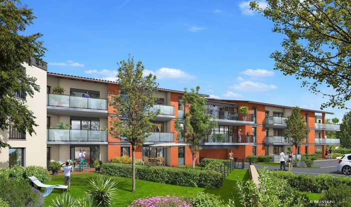 Appartements neufs Castanet-Tolosan référence 4301 : aperçu n°0