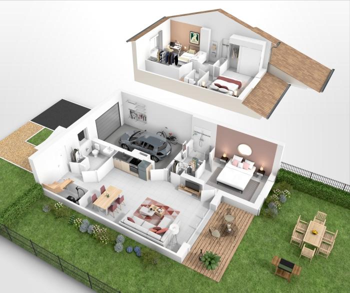 Maisons neuves Pins-Justaret référence 4316 : aperçu n°1