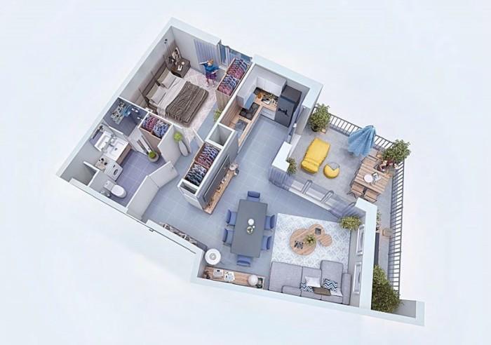 Appartements neufs Cugnaux référence 4327 : aperçu n°1