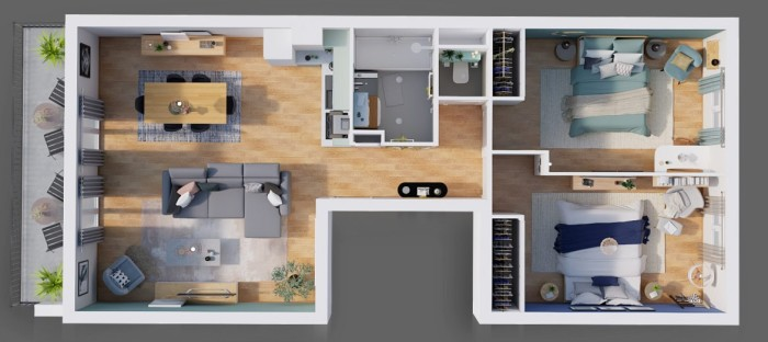 Appartements neufs Compans Caffarelli référence 4398 : aperçu n°4