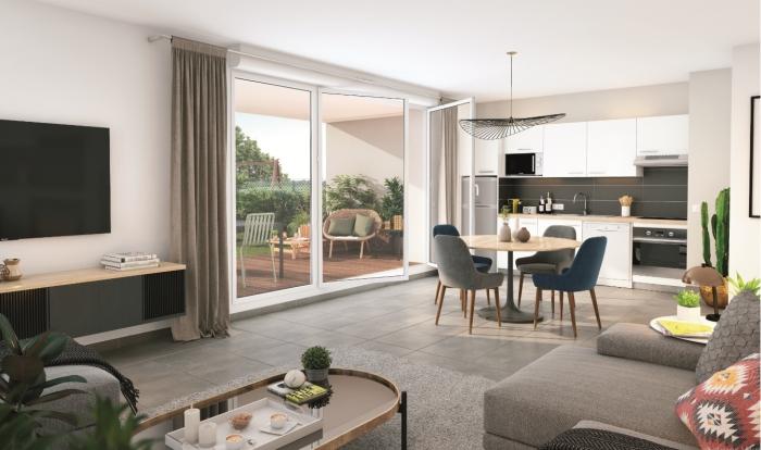 Appartements neufs Patte d'Oie référence 4466 : aperçu n°1