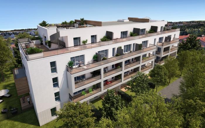 Appartements neufs La Roseraie référence 4488 : aperçu n°2