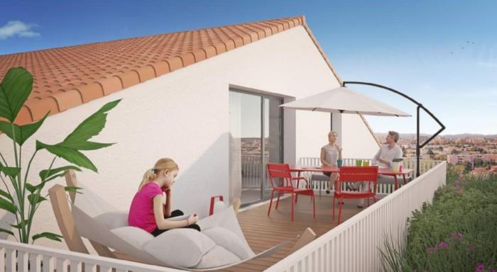 Appartements neufs La Roseraie référence 4648 : aperçu n°2