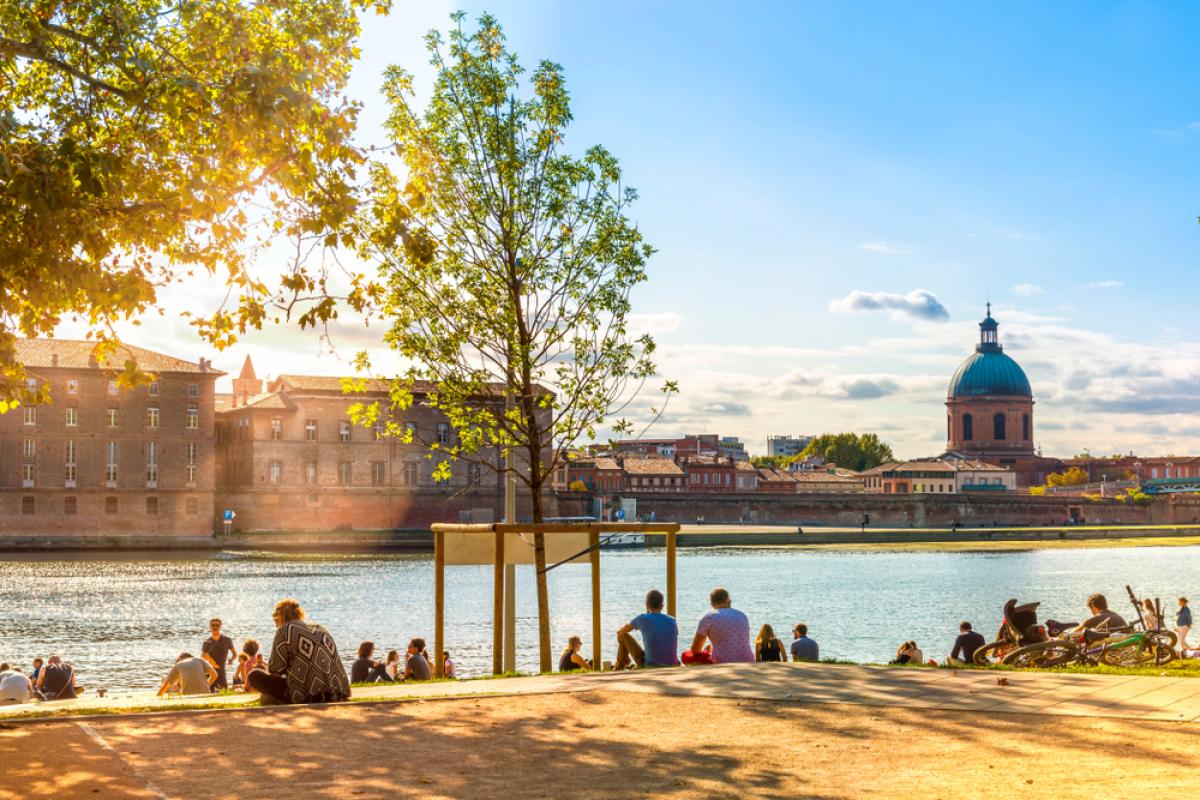 Crédit immobilier à Toulouse - Vue sur le quartier Saint-Cyprien à Toulouse