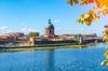 Taux de crédit immobilier à Toulouse - Vue sur le dôme de l'hôpital La Grave à Toulouse