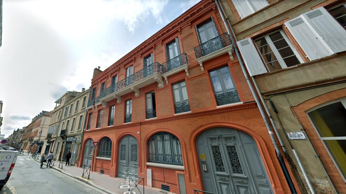 immobilier neuf toulouse jean-jaurès - Immeuble construit sur 2 étages aux lignes architecturales toulousaines