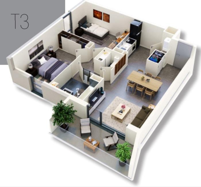 Appartements neufs Saint-Orens-de-Gameville référence 5055 : aperçu n°3