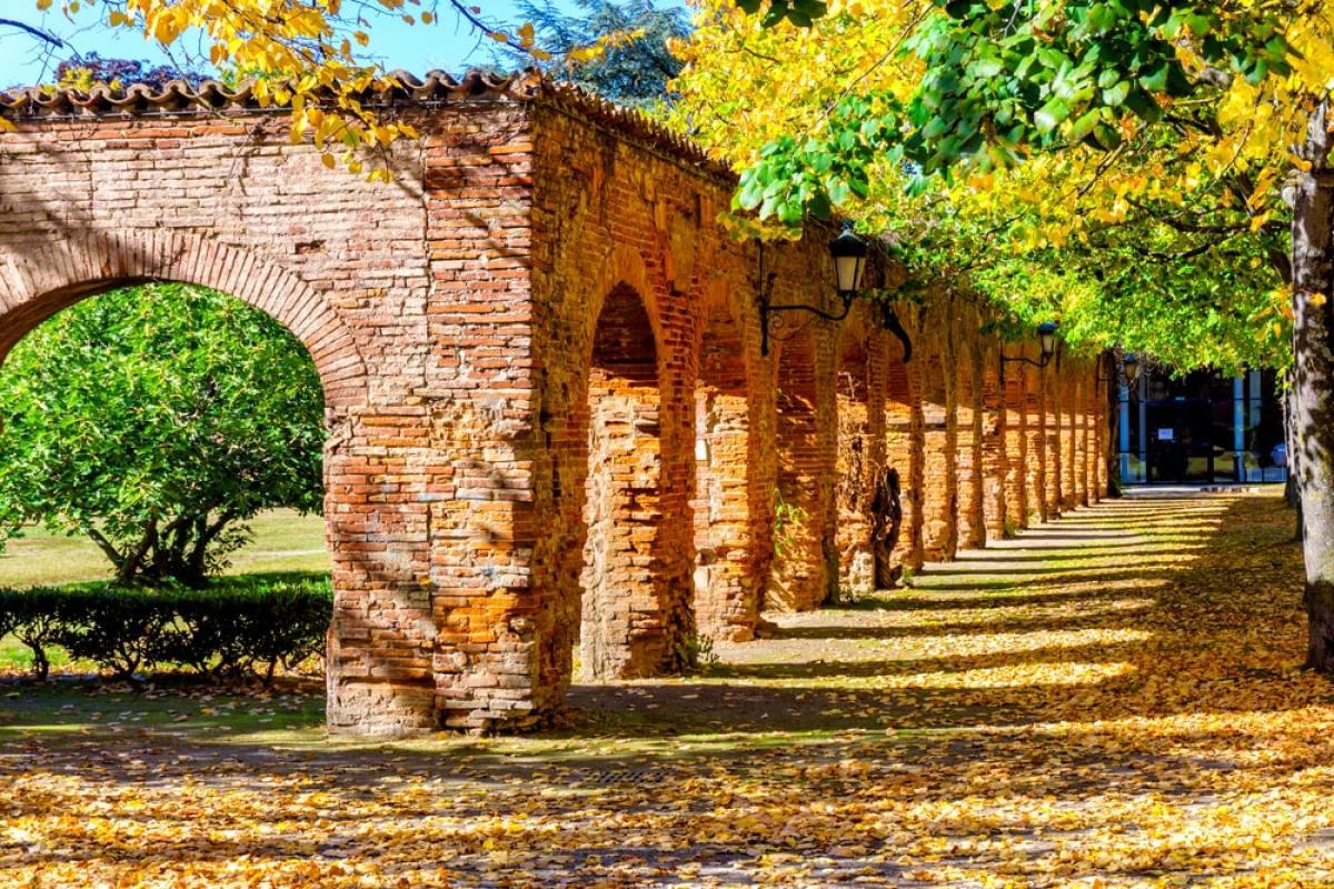 Toulouse Europe - Les arches en briques rouges de l'Université Toulouse I Capitole
