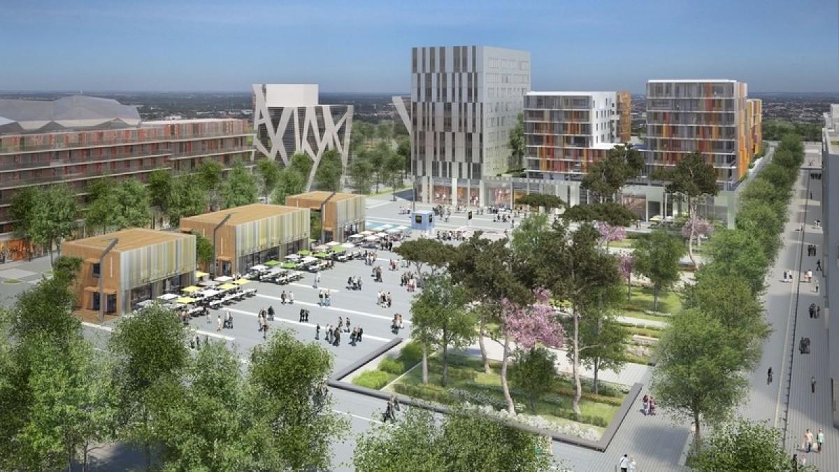 Urbanisme Toulouse - La place centrale du quartier Toulouse Borderouge