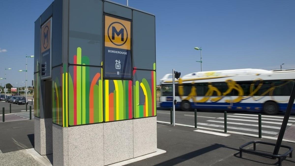 Urbanisme Toulouse - La station de métro du quartier Toulouse Borderouge