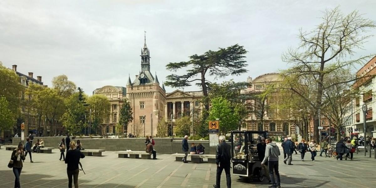 centre ville toulouse - Le square Charles de Gaule à Toulouse