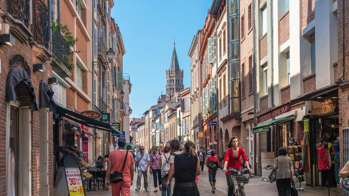centre ville toulouse - La rue du Taur à Toulouse