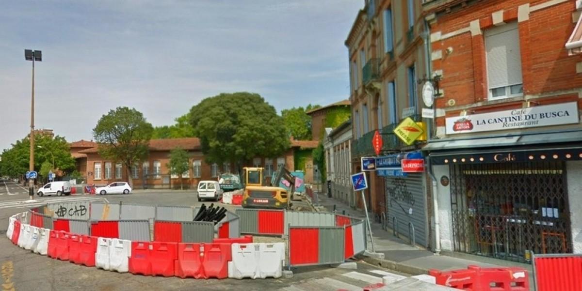 coeur quartier toulouse - La place du Busca en plein réaménagement urbain