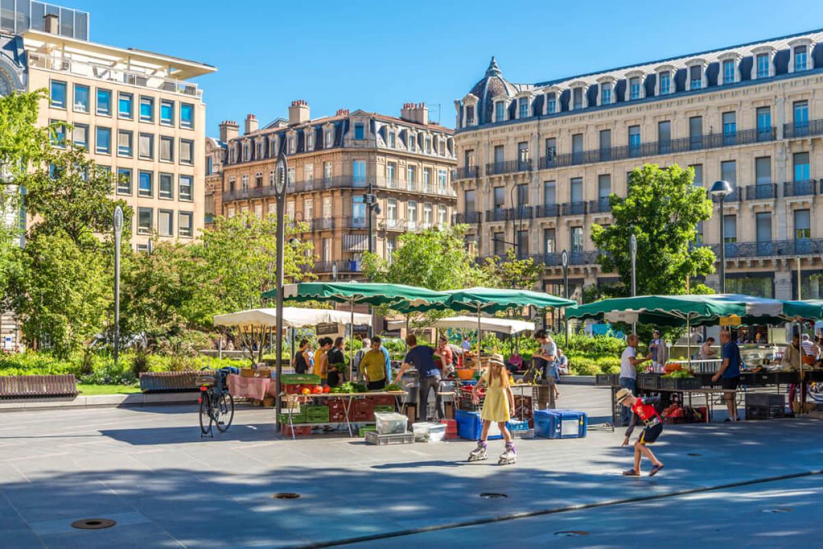 Prix de l'immobilier neuf - Le square Charles de Gaulle à Toulouse