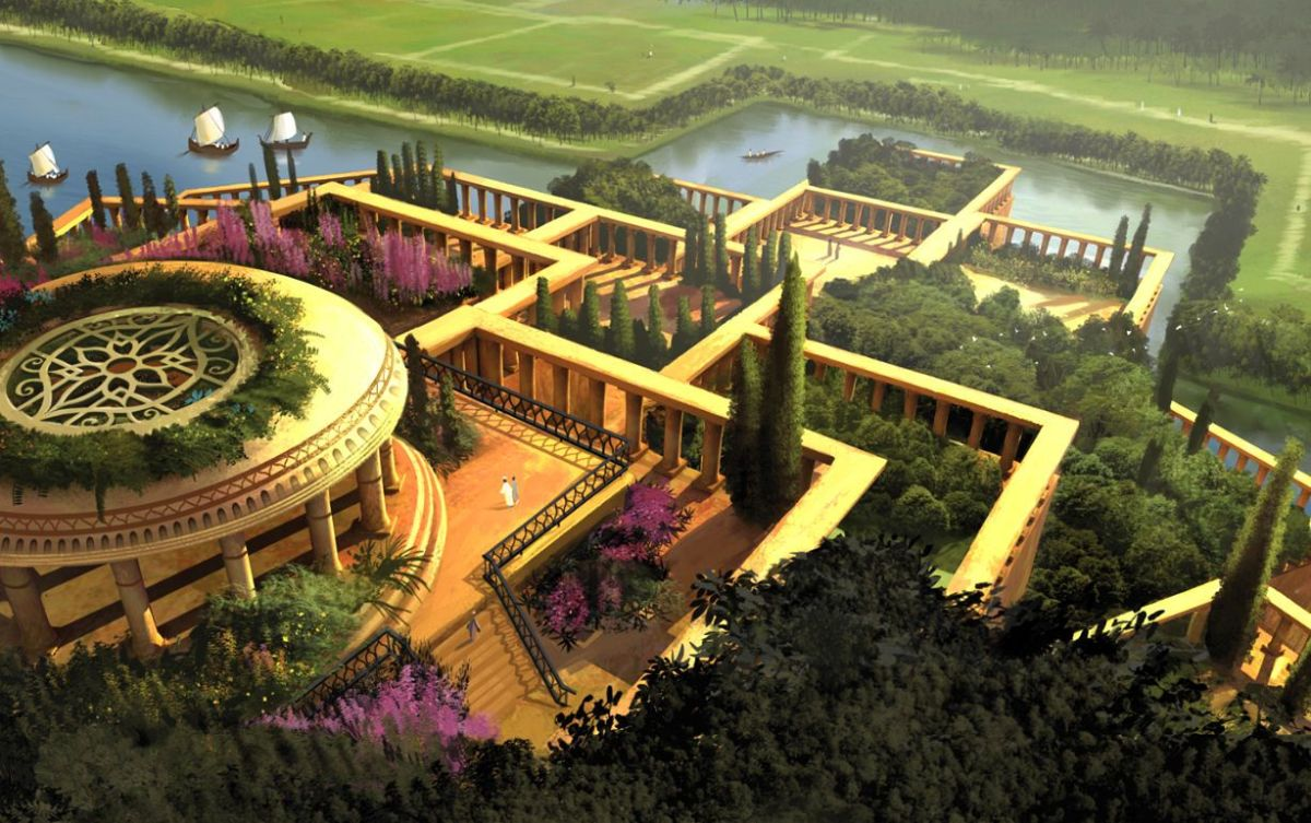 Jardins de Babylone - Visuel 3D des jardins de Babylone