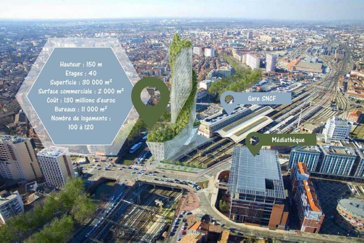 occitanie tower toulouse - L'Occitanie Tower, le premier gratte-ciel à Toulouse Matabiau