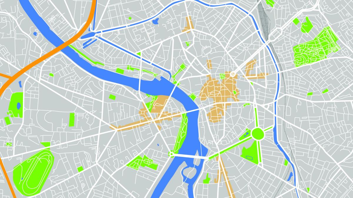 Zone Pinel Toulouse - Carte vectorielle de Toulouse et sa périphérie
