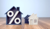 Pourcentage immobilier - Illustration du concept de crédit immobilier