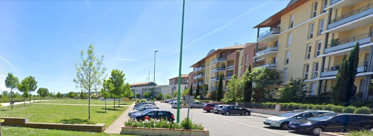 Logement neuf Castanet Tolosan - vue sur le quartier Verte Prairie et Rabaudy