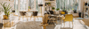Canapé d'angle dans un salon neuf