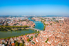 Vue panoramique de Toulouse et de la Garonne