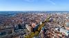 Vue aérienne sur la ville rose