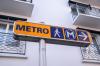 Panneau de signalisation du métro à Toulouse.
