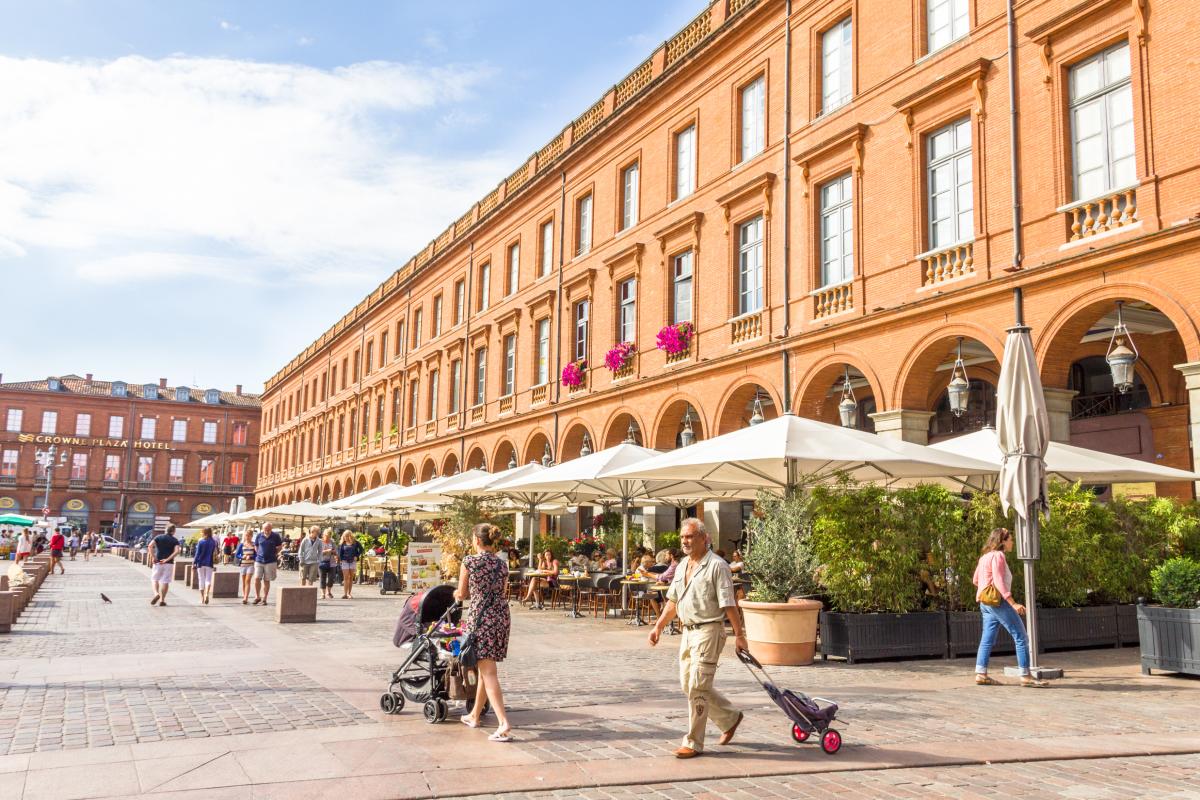 immobilier et coronavirus - La place du Capitole à Toulouse