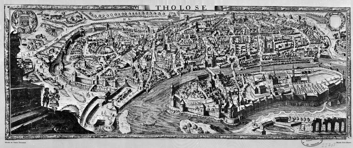 Histoire de Toulouse - Ancien plan de Toulouse