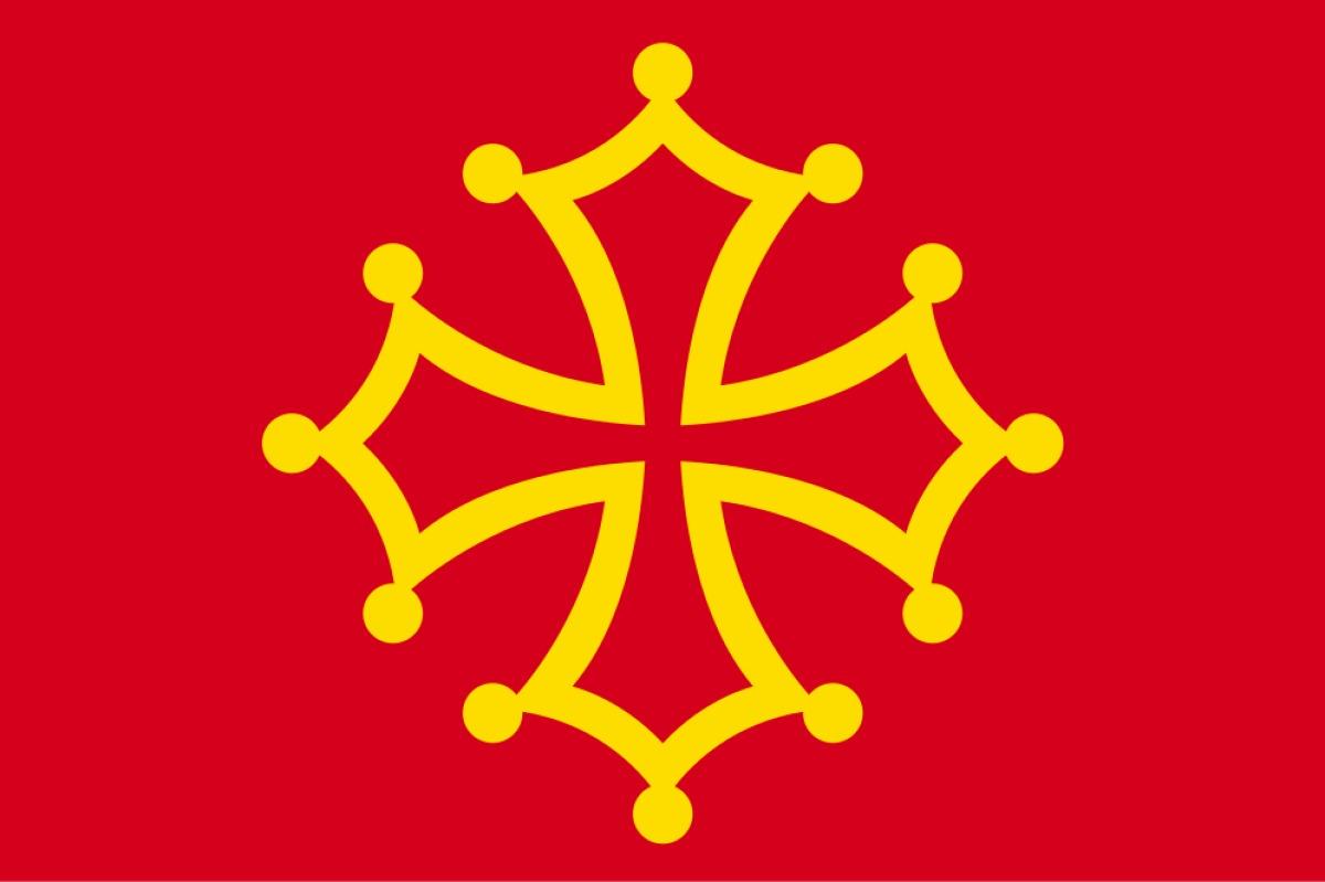 Histoire de Toulouse - Drapeau occitan