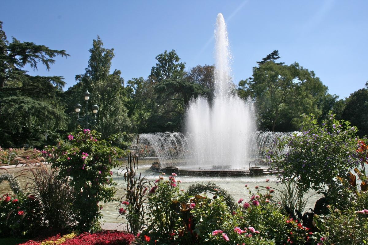 La fontaine du Jardin du Grand Rond