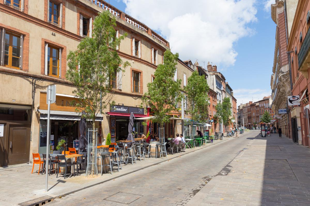 La rue Jean Suau à Toulouse