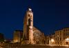 La cathédrale Saint-Étienne à Toulouse en soirée