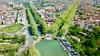 Le canal du Midi, les deux ponts et le port du Luxembourg à Toulouse