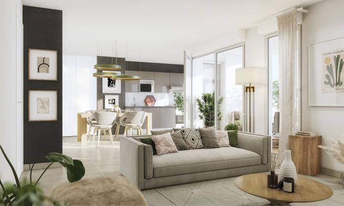Appartements neufs Saint-Agne référence 5553 : aperçu n°1