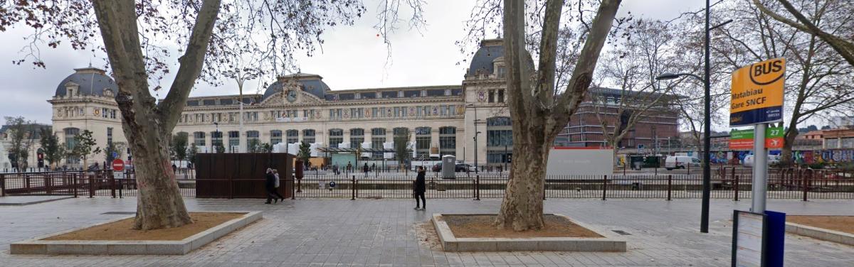 Grand Matabiau à Toulouse - vue du parvis Matabiau/gare de Toulouse