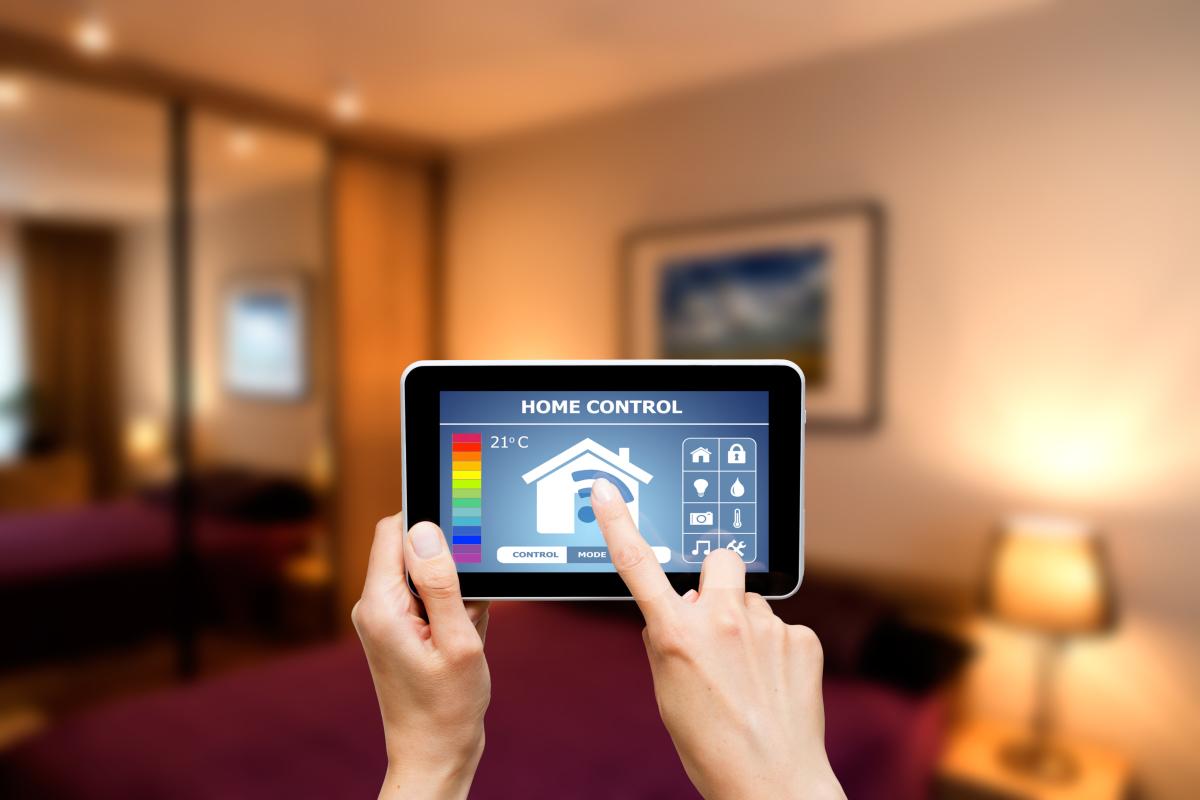 objet connecté  –  application Home control fonctionnant en bluetooth