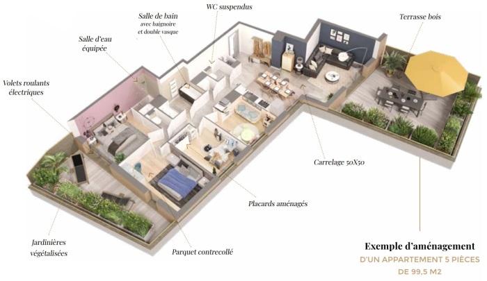 Appartements neufs Saint-Orens-de-Gameville référence 5701 : aperçu n°2