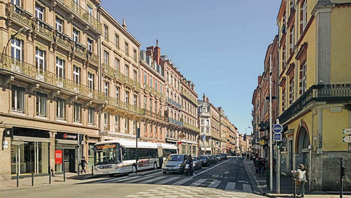 Rue de Metz Toulouse – vue actuelle de la rue