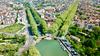 Vue aérienne sur le canal du midi à Toulouse