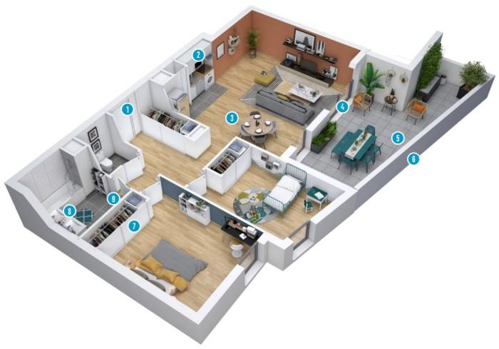 Appartements neufs Eaunes référence 5791 : aperçu n°1