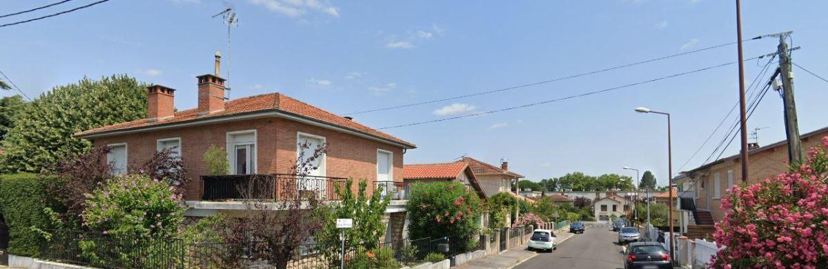 Appartement neuf Roseraie - vue sur une rue résidentielle du quartier de la Roseraie à Toulouse