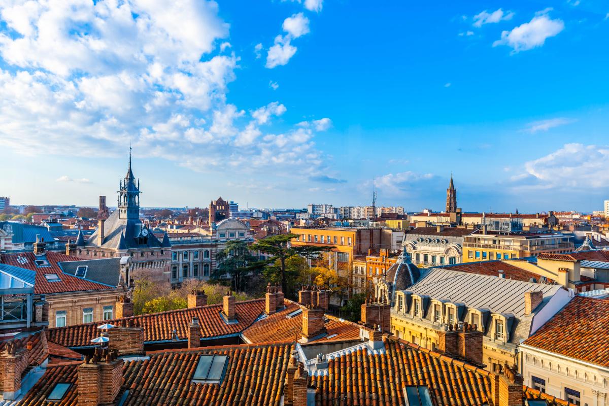 campus saint-michel toulouse - vue sur les toits de Toulouse